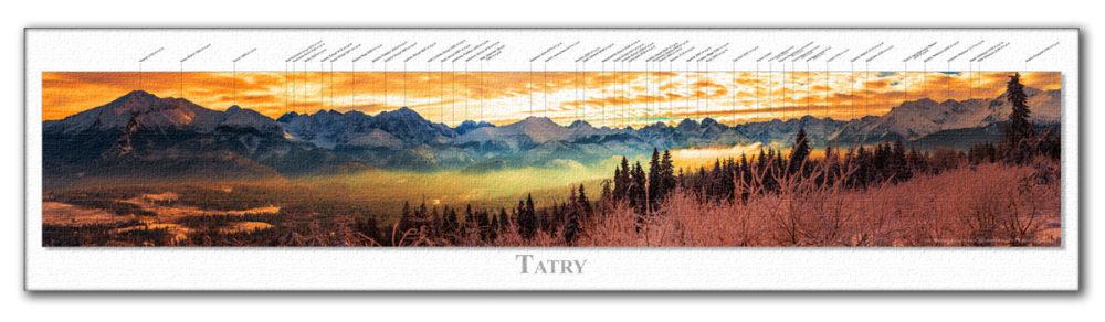 Panoramy Tatrzańskie z opisem szczytów