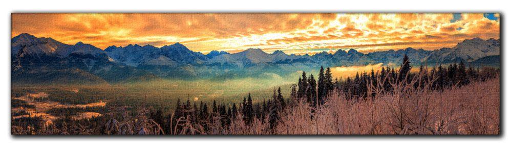 Panoramy Tatrzańskie na płótnie